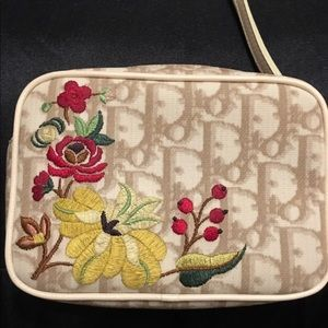 Christian Dior Authentic Embroidered Wristlet